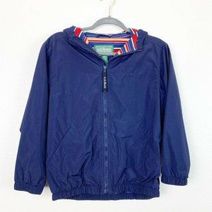 L.L. Bean Boys M 10/12 Blue Full Zip Hoodie Jacket